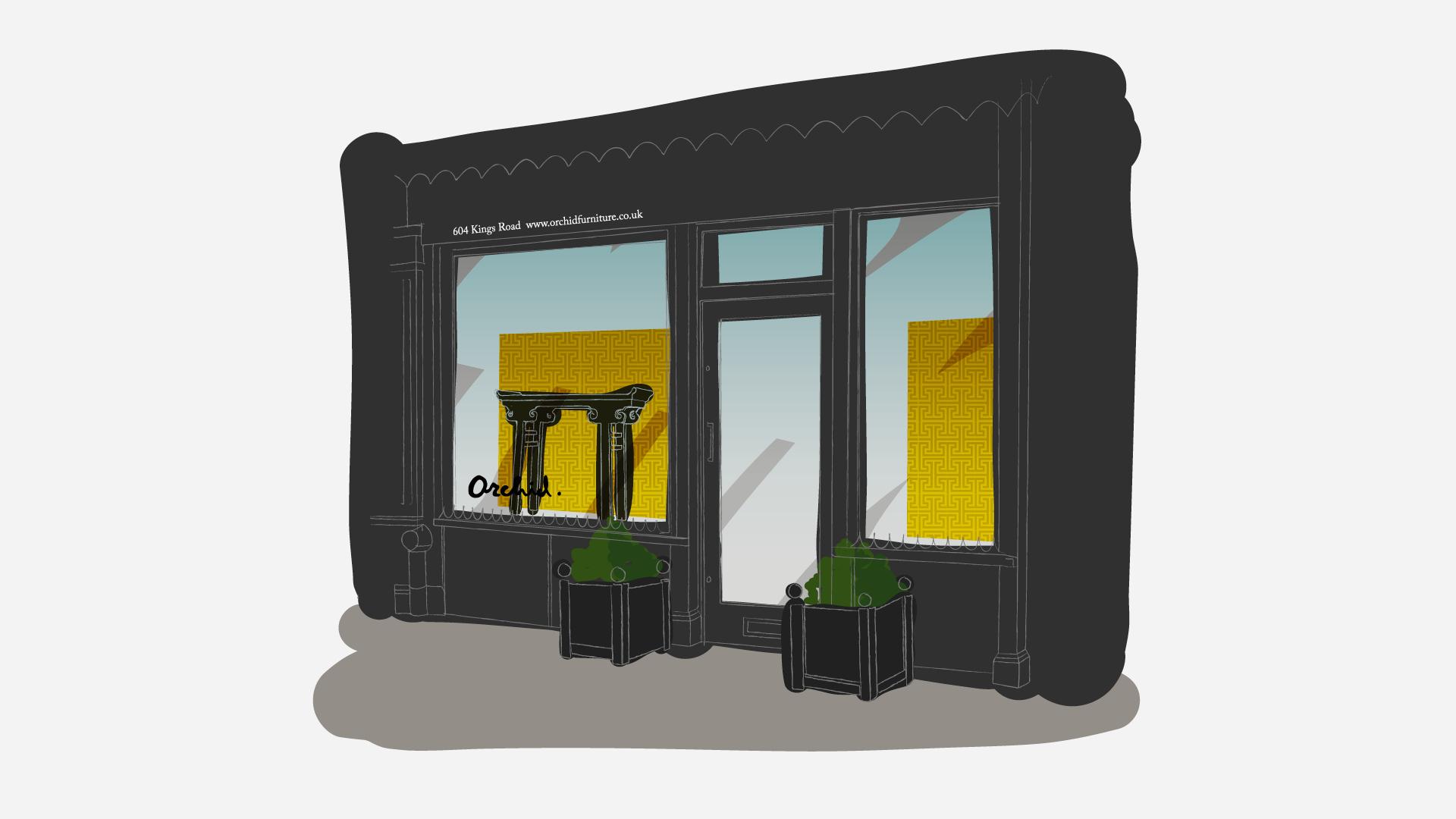Luxury Retail Design Sketch
